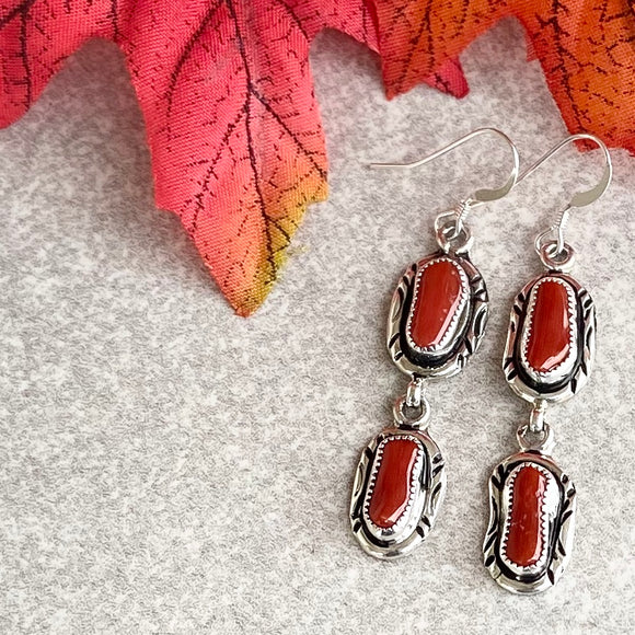 The Matamoras Coral Earrings