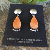 The Pera Orange Spiny Oyster Earrings