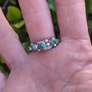 The Bogata Turquoise Vintage Stacker Ring