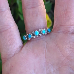 The Joaquin Turquoise Vintage Stacker Ring