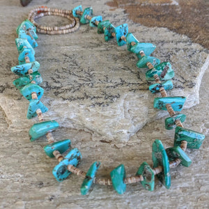 The Ola Vintage Heishi & Turquoise Necklace