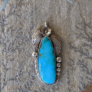 The Angel Vintage Turquoise Pendant