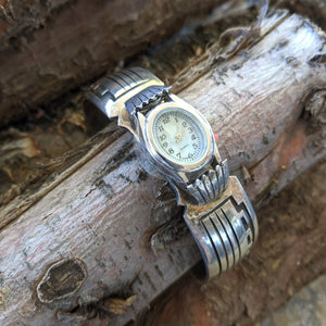 The Plata Sterling Silver Vintage Watch Band