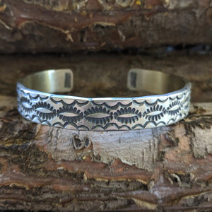 The Santa Fe Lightning Sterling Silver Bracelet
