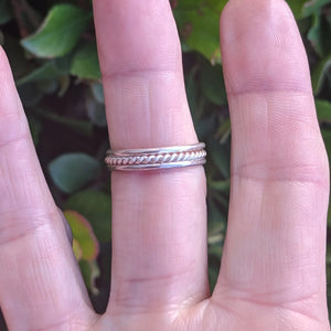 The Sterling Silver Stamped Stackable Rings