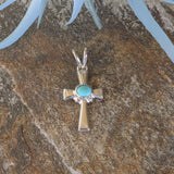 The Almeria Silver & Turquoise Cross Pendant