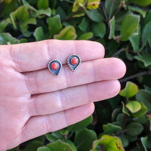 The Sonora Coral Vintage Earrings