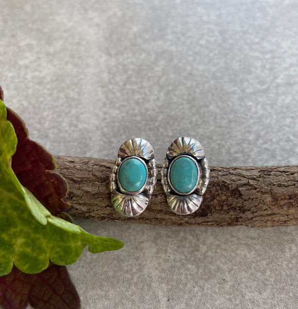 The Fence Lake Turquoise Earrings