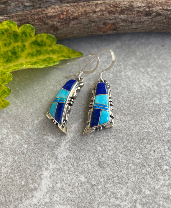 The Mule Creek Winds of Wisdom Inlaid Earrings