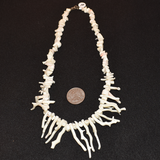 The Dos Perla Vintage White Coral Necklace