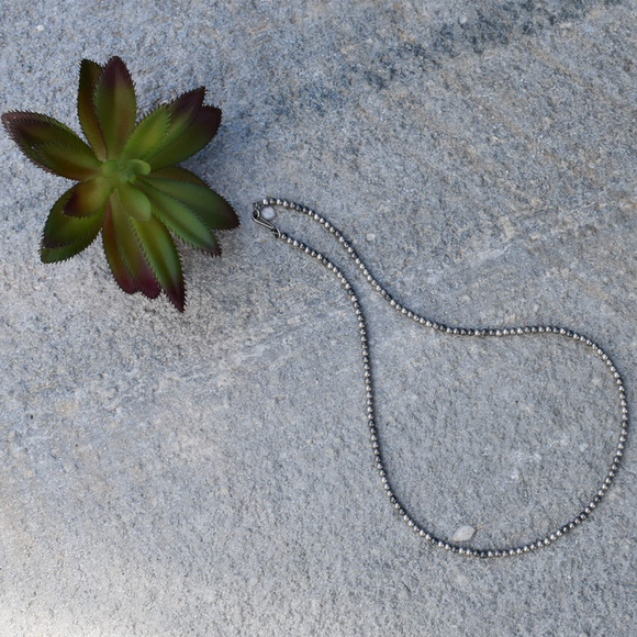 The Agave 3mm Navajo Pearl Necklace