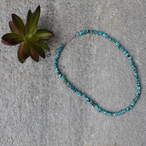 "The Vaqueros Turquoise Necklace (18"")"