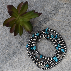 The Natrona Navajo Pearl & Turquoise Necklace