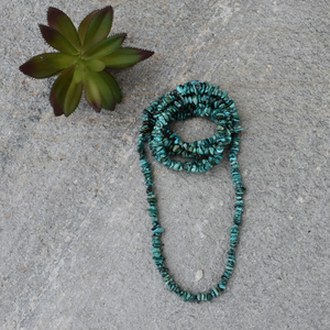 "The Bosque Turquoise Necklace (48"")"