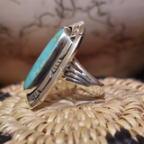 The Silver Fox Turquoise Ring