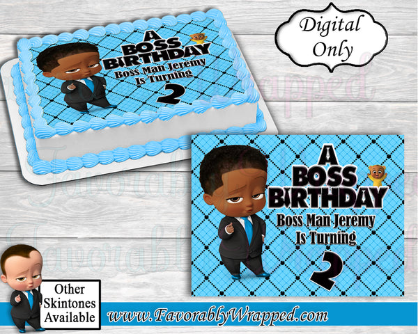 Boss Baby Birthday Cake Image-Boss Baby Birthday-Boss Baby-Boss Baby Party-Edible Cake Image-Cake Decoration-DIGITAL ONLY