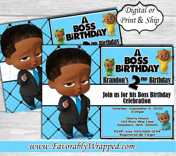 Boss Baby Boy Birthday Invitation-Boss Baby-Boss Baby Invitation-Boss Birthday Party-Boss Baby Birthday-Boss Baby Invitation-Boss Baby