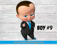 Boss Baby Birthday Gable Box Labels-Boss Baby Favor Boxes-Boss Baby Birthday-Boss Birthday Party-Boss Party- Boss Baby-Boss Baby Clipart-Boss Baby Chip Bag