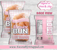 Bunny Honey Bun Wrapper-Rabbit Honey Bun Wrapper-Bunny Birthday-Honey Bun Wrapper-Bunny Baby Shower-Rabbit Baby Shower-Donut Baby Shower