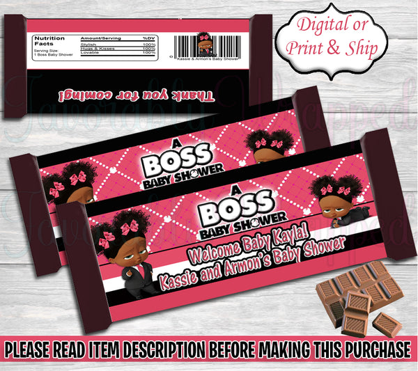Boss Baby Shower Hershey Wrapper-Boss Baby Hershey Wrapper-Boss Baby Party-Hershey Bar Wrapper-Boss Baby Girl