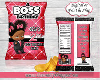 Boss Baby Girl Chip Bag-Boss Baby Birthday-Boss Baby Party-Boss Baby-Boss Baby Decoration