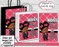 Girl Boss Birthday Gift Bag-Boss Baby-Boss Baby Birthday-Boss Birthday Party-Boss Party-Boss Baby Gift Bag Labels-Boss Baby Clipart