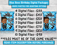 Boss Baby Birthday-Digital Packages-Custom Digital Package-Chip Bag-Rice Krispie Treat-Capri Sun-Water Label-Candy Wrapper-You Print Only-Digital Printables