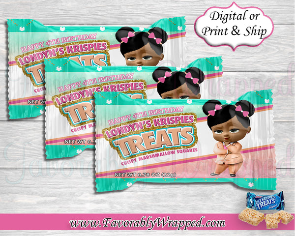 Boss Birthday Rice Krispies Treat Wrappers-Boss Baby-Boss Baby Birthday-Boss Birthday Party-Boss Party-Boss Birthday-Boss Baby Clipart-Boss Baby Rice Krispies Treats