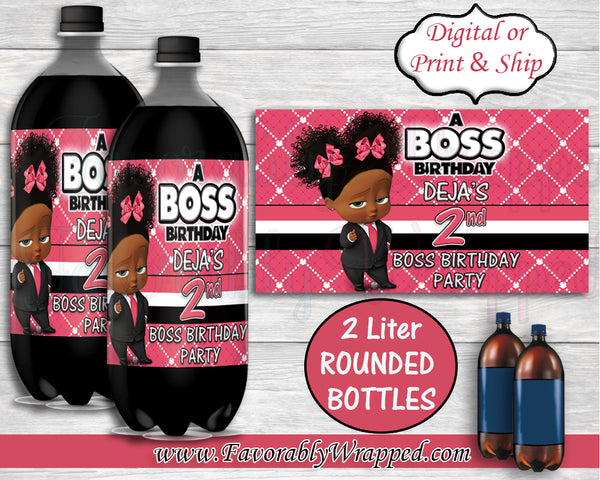 Girl Boss Birthday Soda Bottle Labels-Boss Baby-Boss Baby Birthday-Boss Birthday Party-Boss Party-Boss Baby Chip Bag Labels-Boss Baby Clipart
