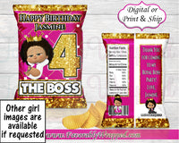 Boss Baby Girl Chip Bag-Boss Baby Birthday-Boss Baby Party-Boss Baby-Purple Boss Baby