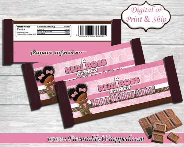 Gucci Inspired Boss Baby Hershey Bar Wrappers-Boss Baby Hershey Bar Wrapper-Gucci Hershey Bar Wrapper-Pink Gucci Boss Baby Birthday Hershey Bar