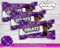 Boss Birthday Rice Krispies Treat Wrappers-Boss Baby-Boss Baby Birthday-Boss Birthday Party-Boss Party-Boss Birthday-Boss Baby Clipart-Purple Boss Baby