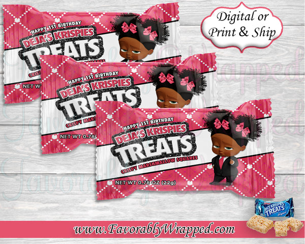 Boss Birthday Rice Krispies Treat Wrappers-Boss Baby-Boss Baby Birthday-Boss Birthday Party-Boss Party-Boss Birthday-Boss Baby Clipart