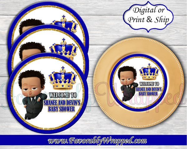 Boss Baby Baby Shower Charger Insert-Boss Baby-Boss Baby Birthday-Boss Baby Shower-Boss Party-Boss Baby Paper Plate Insert-Boss Baby Clipart