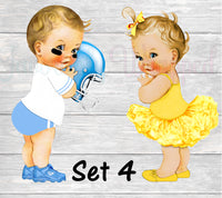 Touchdowns or Tutus Chip Bag-Touchdowns or Tutus Gender Reveal Party-Touchdowns or Tutus Decorations-Touchdowns or Yellow Tutus