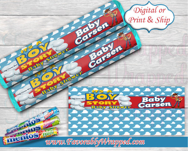 Its a Boy Story Mentos Wrapper-Toy Story Baby Shower Mentos Wrapper-Cigar Wrapper-Toy Story Baby Shower-Mentos Wrapper-It's a Boy-Its a Girl