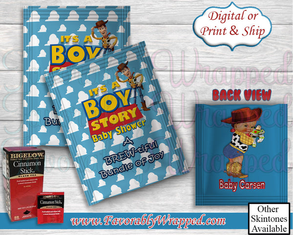 Its a Boy Teabag Wrapper-Toy Story Baby Shower Teabag Wrappers-Toy Story Baby Shower-Teabag Packet Wrapper-It's a Boy-Its a Girl