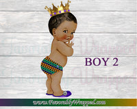 Royal Prince Baby Shower Charger Insert-Baby Shower Charger Insert-Safari Baby Shower-Kente Baby Shower-African Baby Shower