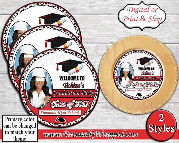 Graduation Charger Insert-Graduation-Graduation Party-Graduation Decor-High School Graduate-College Graduate-Graduation Chip Bag