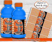 Basketball Gatorade Labels-Sports Drink Label-Basketball Birthday-Basketball Party-Gatorade Label-Basketball Baby Shower-Sports Drink Label
