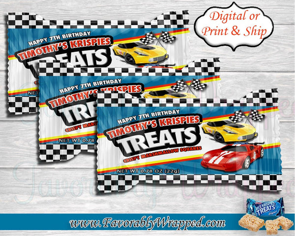 Race Car Rice Krispies Treats-Hot Wheels Rice Krispies Treats-Race Car Birthday Party-Cars Birthday-Hot Wheels Birthday-Race Car decorations