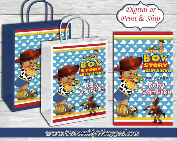 Its a Boy Story Gift Bag-Toy Story Baby Shower Gift Bag Labels -Gift Bag Labels-Toy Story Baby Shower-Baby Shower-It's a Boy-Its a Girl