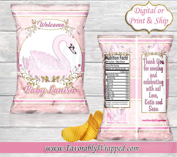 Swan Hand Sanitizer Label-Swan Baby Shower Hand Sanitizer Labels-Swan Baby Shower-Baby Shower-It/'s a Boy-Its a Girl-Swan Decoration