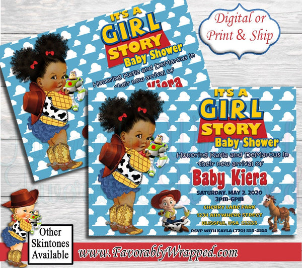 Its a Girl Story Invitation-Toy Story Baby Shower Invitation-Toy Story Baby Shower-Invitation-Baby Shower Invitation-It's a Boy-Its a Girl