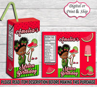One in a Melon HiC Juice Box-One in a Melon HiC Juice Box-One in a Melon Birthday-Juice Box Label-Juice Labels-HiC Juice Label-Watermelon