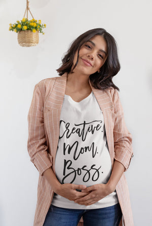 Mom Boss Shirt, Creative Mom Shirt, Mom Life T- Shirt, Wear Motherhood Proudly In This Beautiful Creative Mom Boss T-Shirt