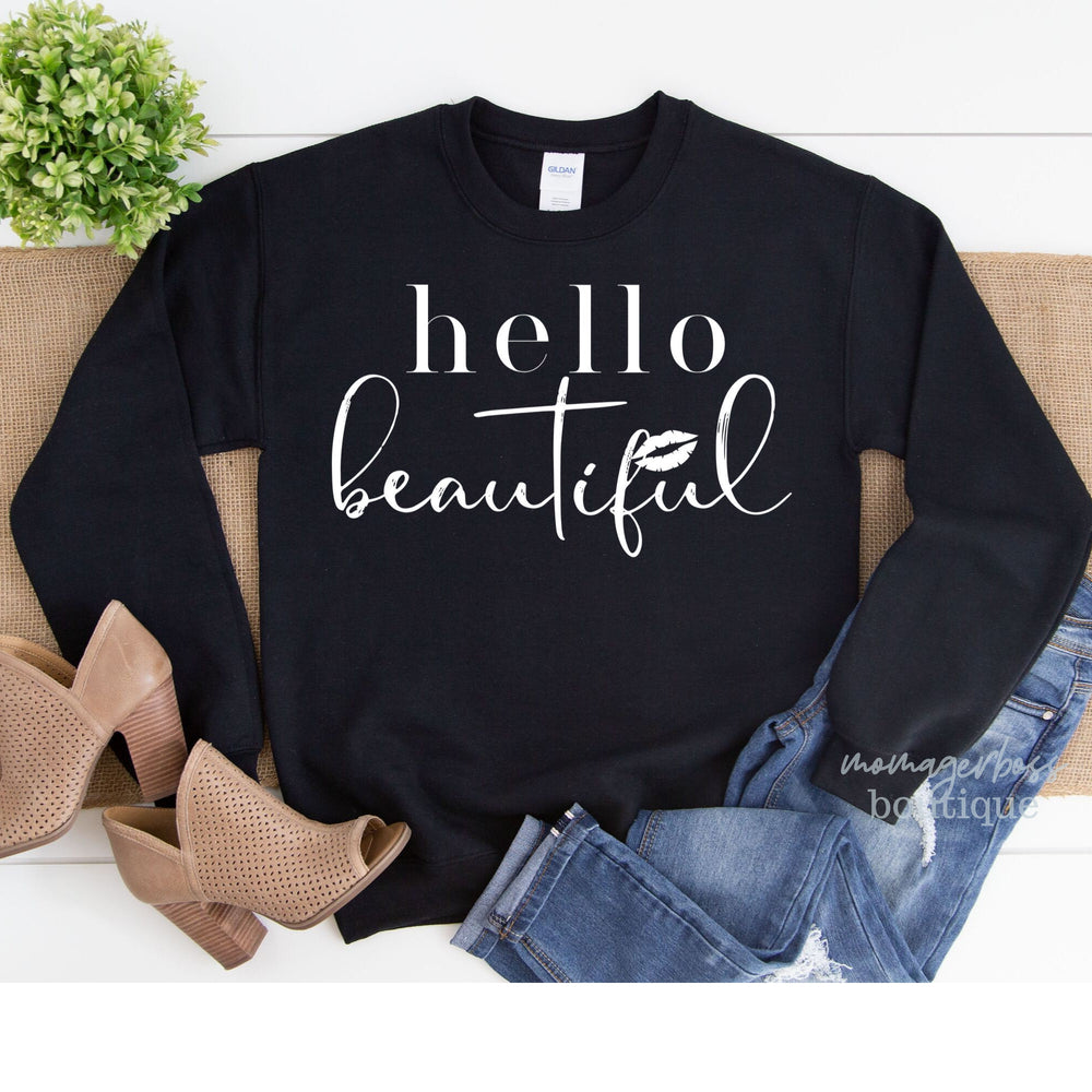 Hello Beautiful | Hello Beautiful Shirt | Motherhood Shirt | Fall Shirts | Mom life SVG | Mom Life Shirt