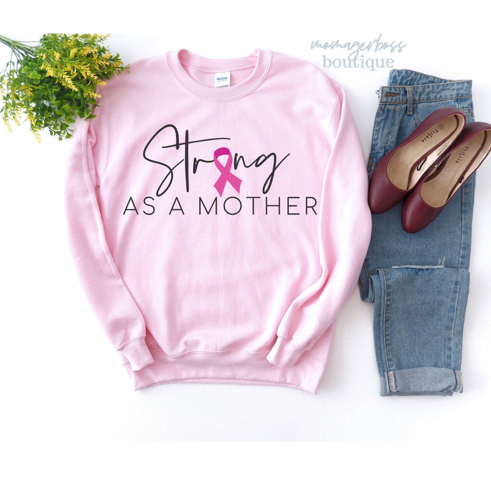 Strong as a mother shirt| Breast cancer shirt | Breast cancer awareness | Breast cancer gifts | Fall Shirts