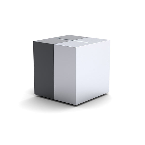 Modern Design Cremation Urn; Full-Size, US-Made Urn