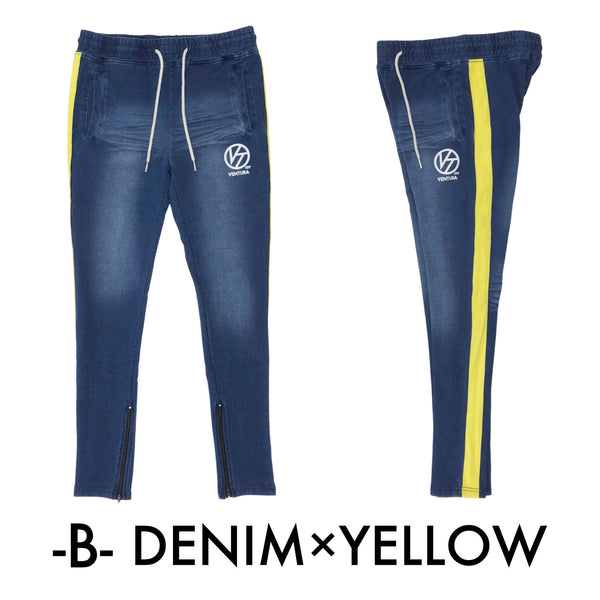 LONG PANTS - DENIM×YELLOW